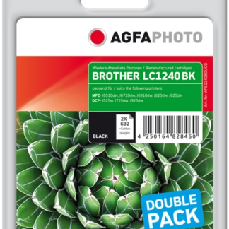 Agfa Photo Value Pack negro APB1240BDUOD Compatible brother 2x LC-1240bk